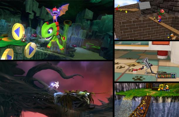 Screenshots taken from developer press kits and Wikimedia Commons.
